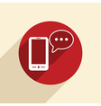 smartphone with cloud of speaking dialogue vector image vector image