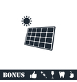 Solar panel icon flat vector image