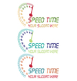 Speed time logo vector image