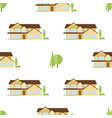 suburban american houses seamless pattern vector image