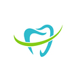teeth dentist care abstract logo vector image