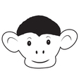 The head of the monkey 1 vector image vector image