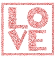 The word love with floral ornament for your design vector | Price: 1 Credit (USD $1)