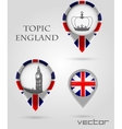 Topic England Map Marker vector image vector image