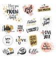 valentine day signs collection vector image vector image