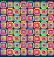 vivid abstraction with multicolored cubes arranged vector image vector image