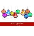 wonderful decorations on christmas tree vector image vector image