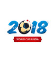 world cup 2018 vector image