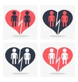couple with broken heart vector image
