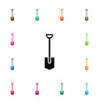 isolated shovel icon spade element can be vector image