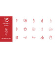 15 ingredient icons vector image vector image