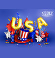 4th july - independence day celebration vector image