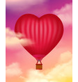 air baloon realistic background vector image vector image