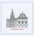 amsterdam central station clock vector image vector image