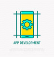 app development thin line icon vector image