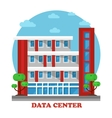 architecture data center building for storage vector image