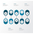 audio outline icons set collection of cover vector image vector image