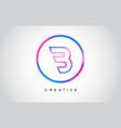 b letter monogram logo design modern b icon with vector image vector image