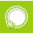 baby shower or a greeting card with a frame and a vector image vector image
