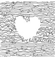 background with heart made crumpled lines vector image
