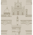 background with landmarks of Florence vector image