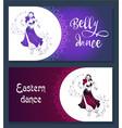 banner belly dance vector image vector image