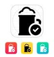 Beer mug icon vector image vector image