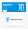 blue business logo template for design designer vector image vector image
