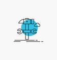 build engineering hammer repair service line icon vector image