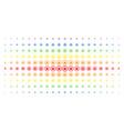 cannabis spectral halftone matrix vector image