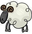 Cartoon of ram or sheep vector image vector image