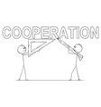 cartoon of two businessmen holding pencil and vector image vector image
