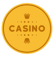 casino caption gold coin vector image