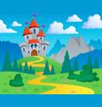 castle theme landscape 1 vector image