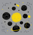 celestial poster with black solar system vector image