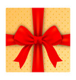 christmas gift box icon realistic style vector image