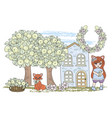clip arts fox fairy tale color vector image