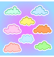 clouds elements1b vector image vector image