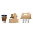 collection craft paper cardboard holders for vector image