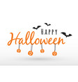 concept lettering for halloween party logo vector image vector image