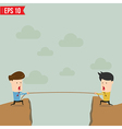 Confrontation between two business people vector image vector image