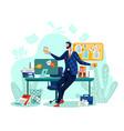 deadline time management business concept vector image vector image