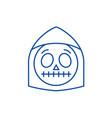 death emoji line icon concept death emoji flat vector image vector image