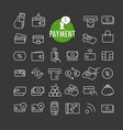 Different payment icons collection web and mobile