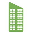 eco city house icon simple style vector image