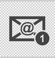 email envelope message in flat style on isolated vector image vector image