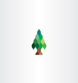 fir tree icon design vector image vector image