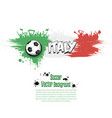 flag of italy and football fans vector image vector image