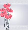 flow pink five vector image vector image