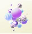 flowing multicolored spheres creative vector image